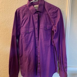 Express men's button down long sleeve shirt